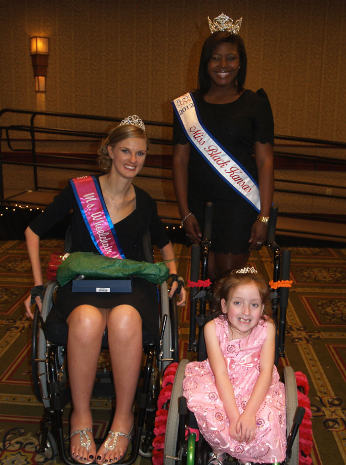 Emily with Miss. Black Kansas and flower attendant
